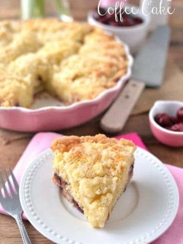 Cherry Orange Coffee Cake is so moist, sweet, and delicious!
