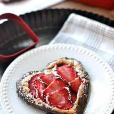 Chocolate Covered Strawberry Galette