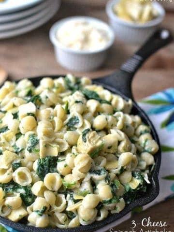 3-Cheese Spinach Artichoke Mac & Cheese