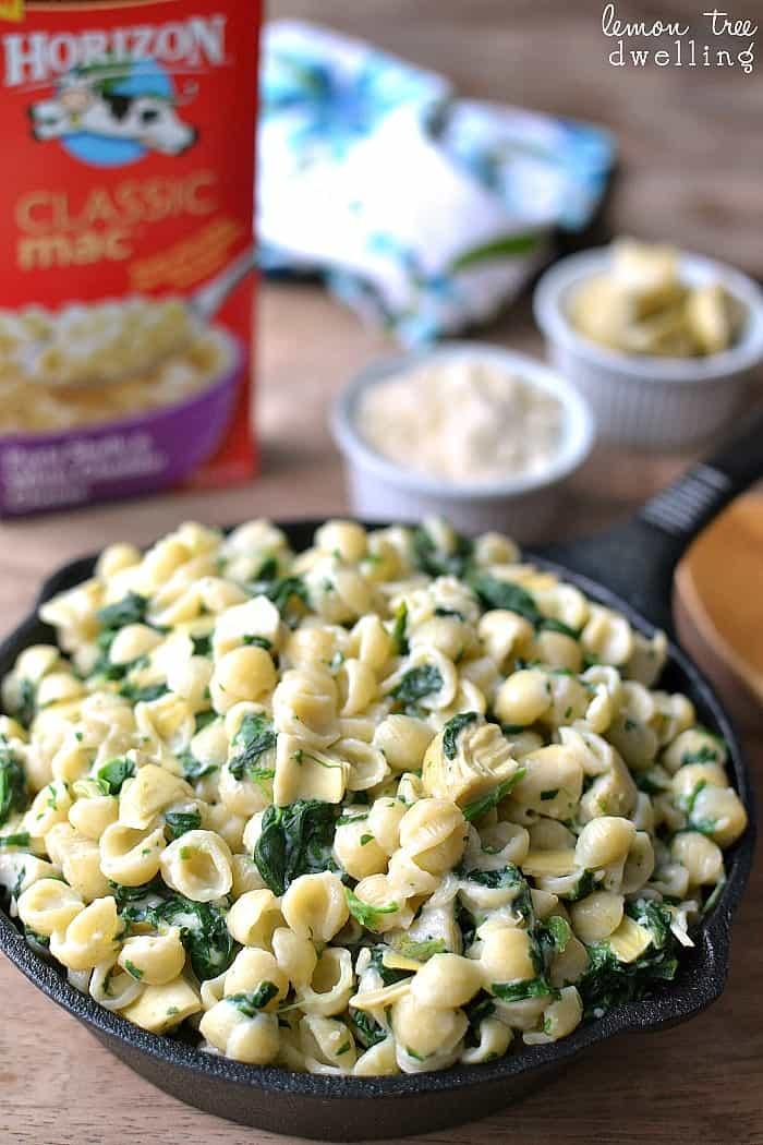 Spinach Artichoke Mac & Cheese 6
