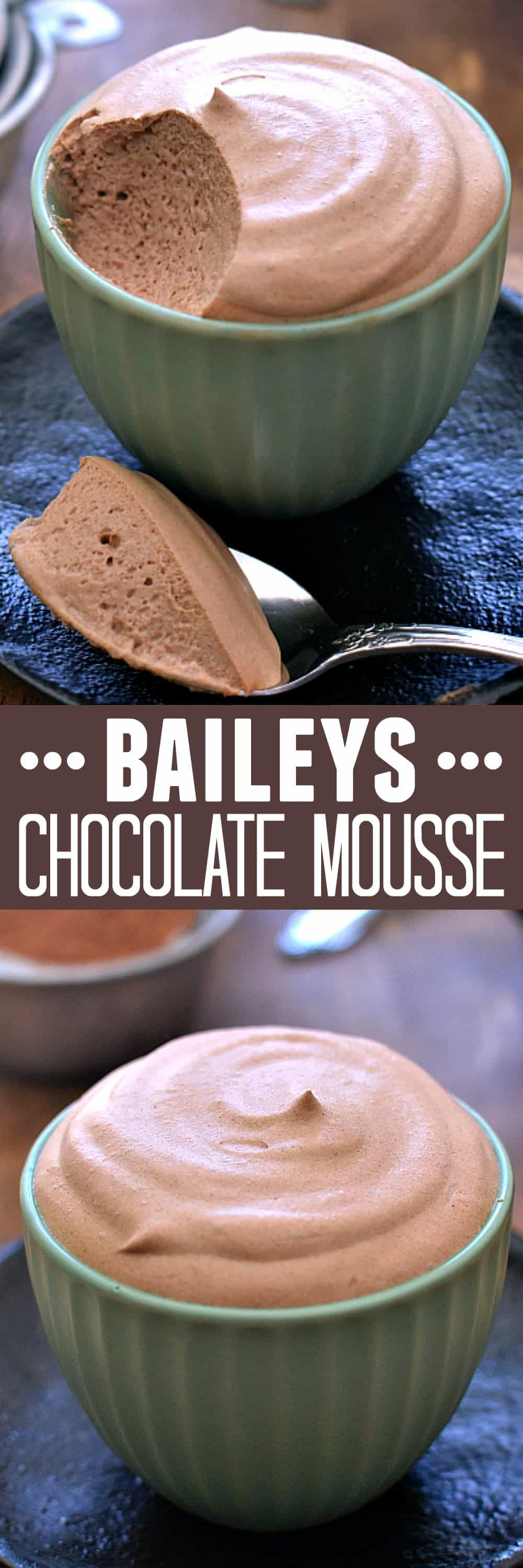 Baileys chocolate mousse is deliciously light, fluffy chocolate mousse, infused with the sweet flavor of Baileys Irish Cream.Perfect St. Patrick's Day dessert recipe!