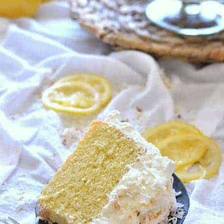 Lemon Coconut Golden Angel Cake 2 title