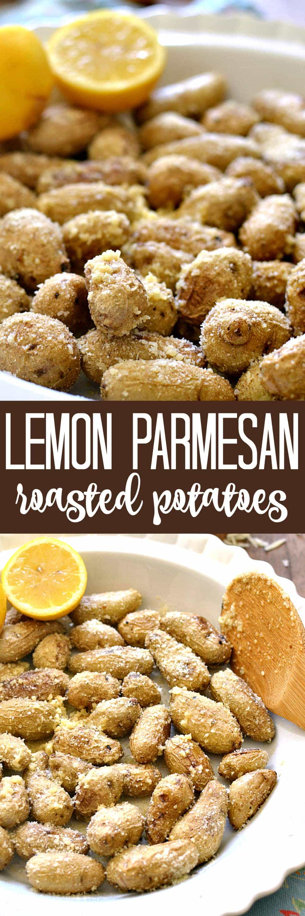 Lemon Parmesan Roasted Potatoes - a simple and delicious side dish! Perfect for spring!