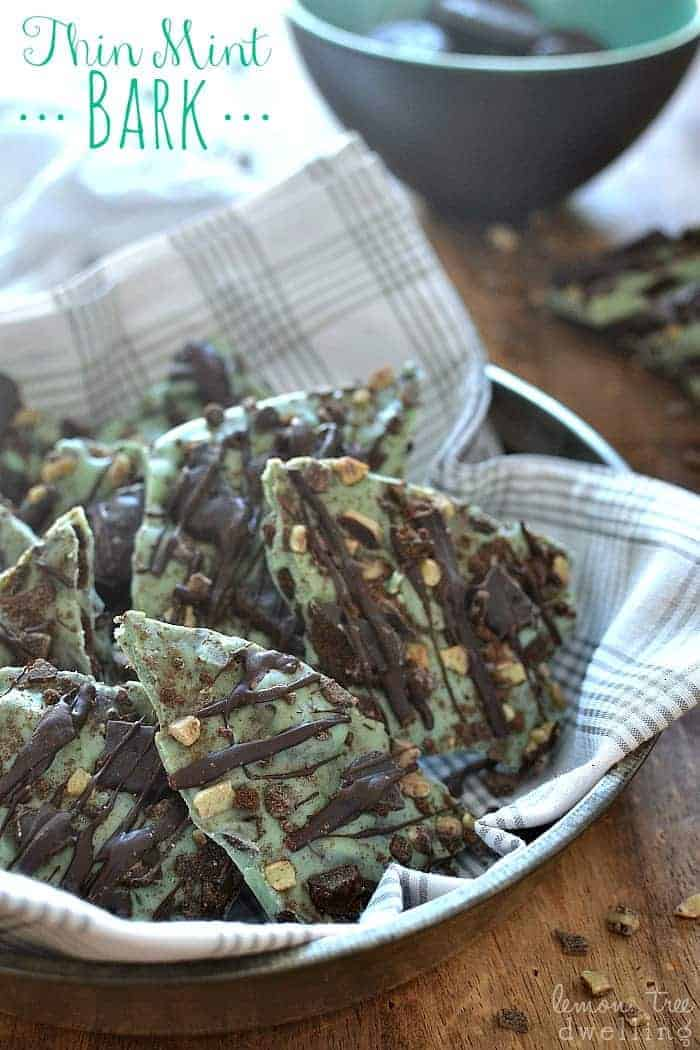 Thin Mint Bark made with Girl Scout Cookies! This stuff is to die for!!!!