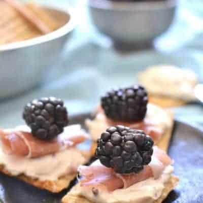 Prosciutto Blackberry Bites