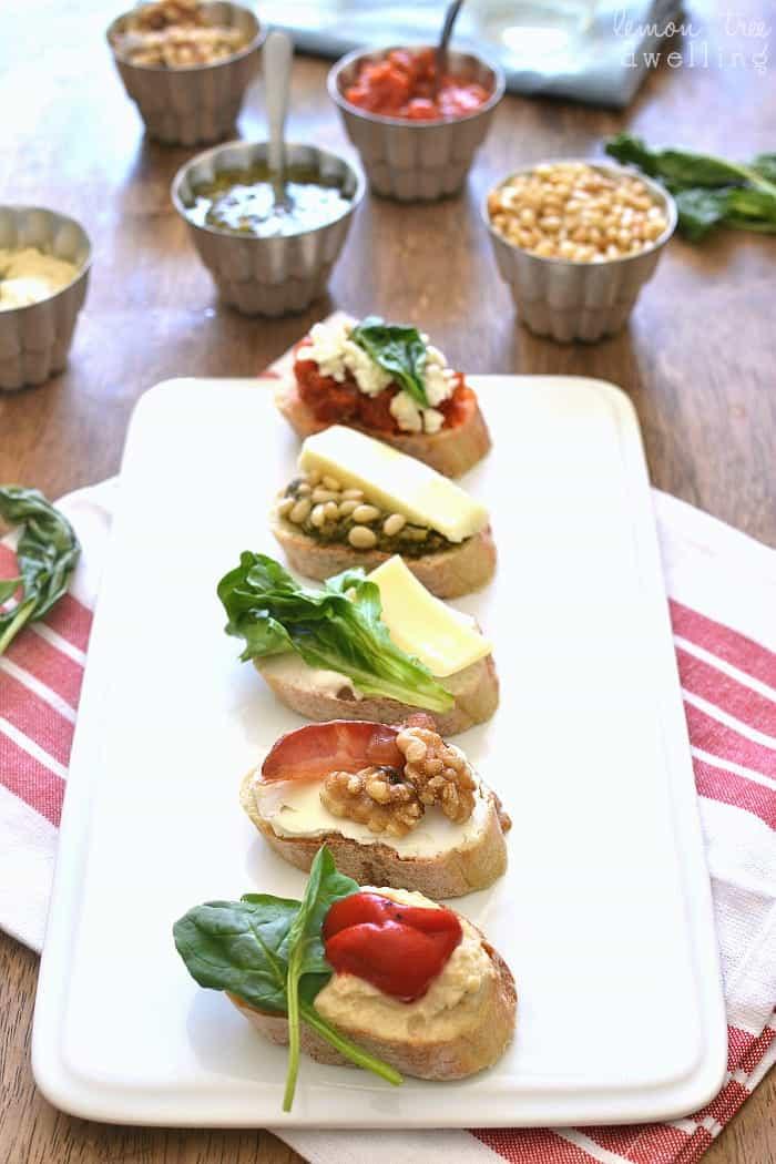 3-Ingredient Crostini Recipes - perfect for summer entertaining!
