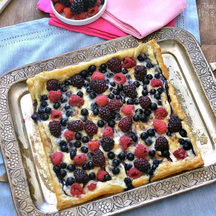 Berry Brie Pizza with Honey Balsamic Drizzle - YUM!