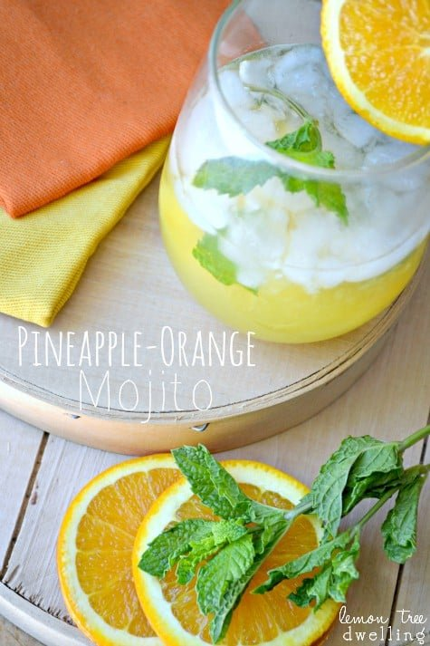 Pineapple-Orange Mojito 1