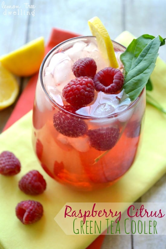 Raspberry Citrus Green Tea Cooler 1