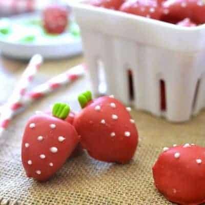 Strawberry Shortcake Oreo Truffles