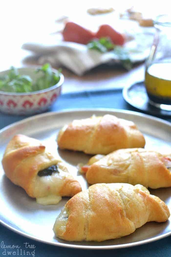 Caprese Crescent Rolls - just 4 delicious ingredients!