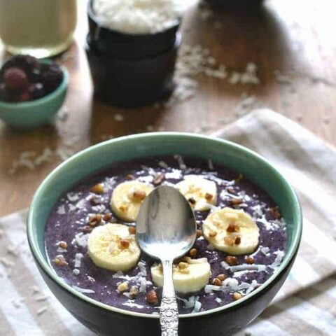 Triple Berry Banana Smoothie Bowl