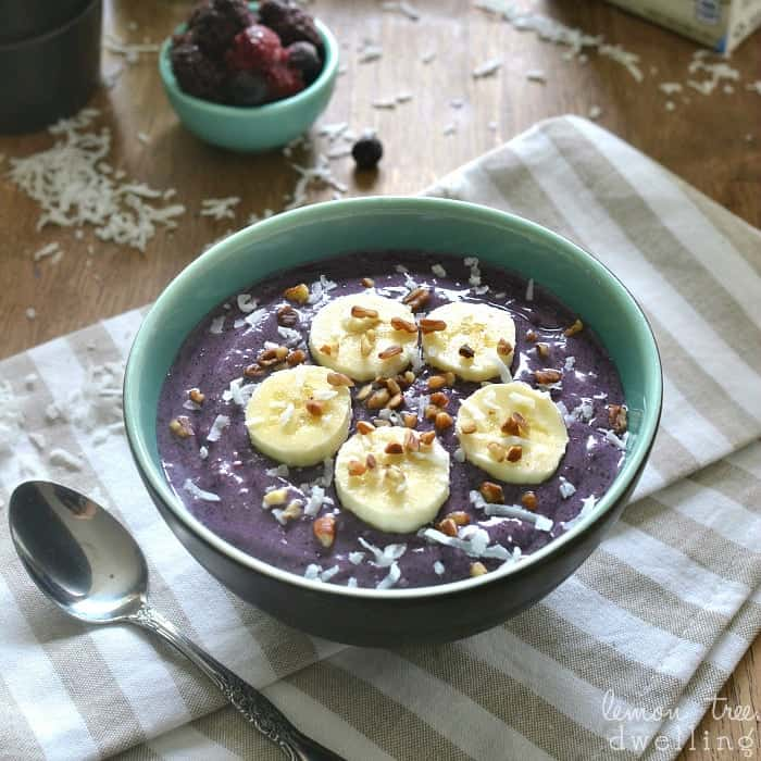 Triple Berry Banana Smoothie Bowl square