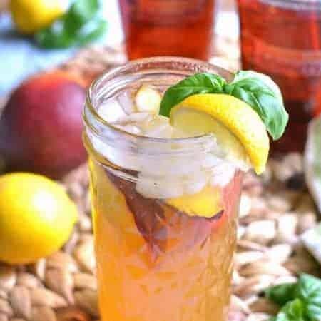 Basil Peach Iced Tea Lemonade 1d