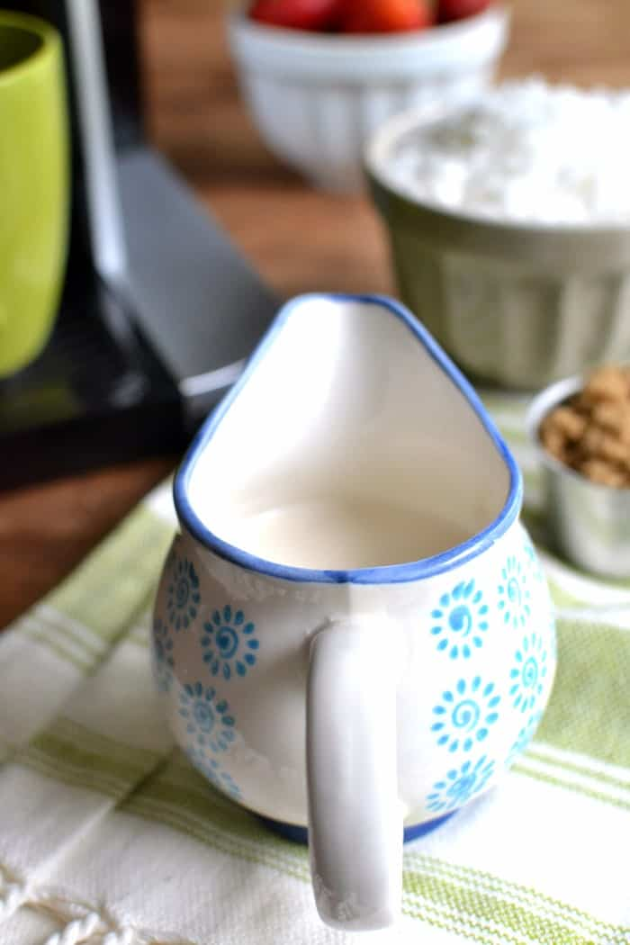 3-ingredient Caramel Coconut Coffee Creamer and a review of the Touch Single-Serve Coffee Brewer!