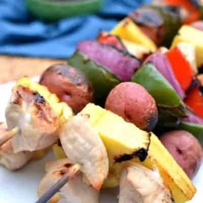 Hawaiian Grilled Chicken Kabobs