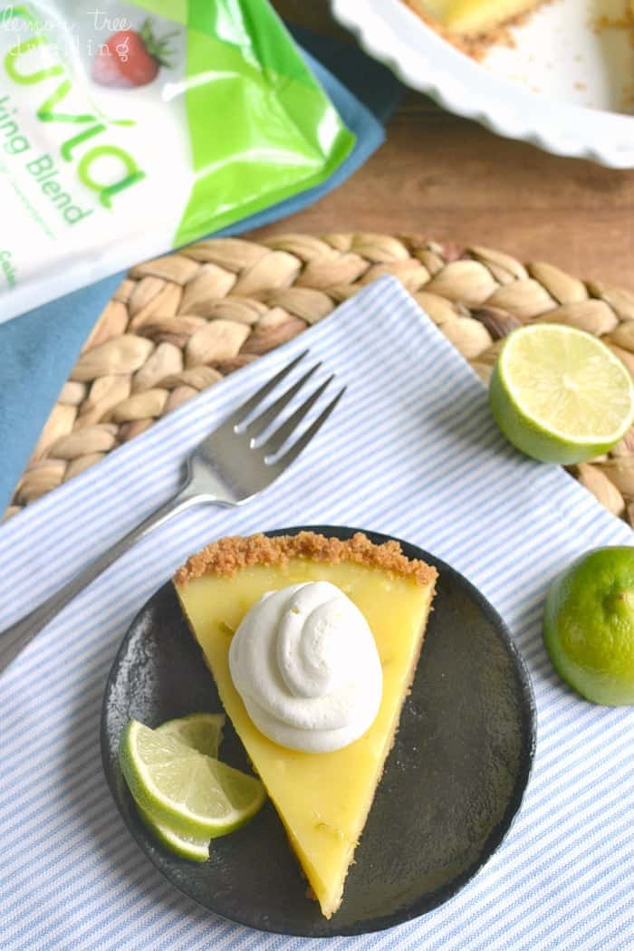 Skinny Key Lime Pie with Coconut Whipped Cream - lightened up with Truvia! #truvia #ad @truvia