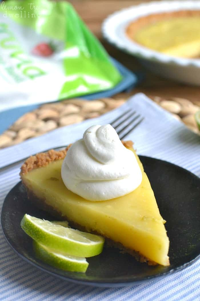 Skinny Key Lime Pie with Coconut Whipped Cream - lightened up with Truvia! #truvia #ad @truvia