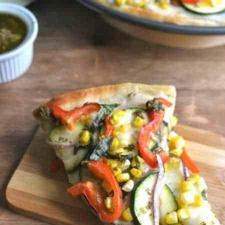 Garden Vegetable Pesto Pizza 6b