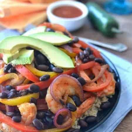 Shrimp Fajita Quinoa Bowl 4