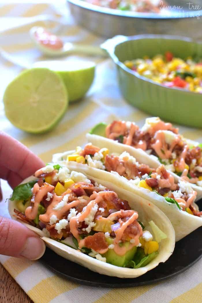 Bacon Avocado Taco Boats - loaded with lettuce, bacon, avocado, cheese ...