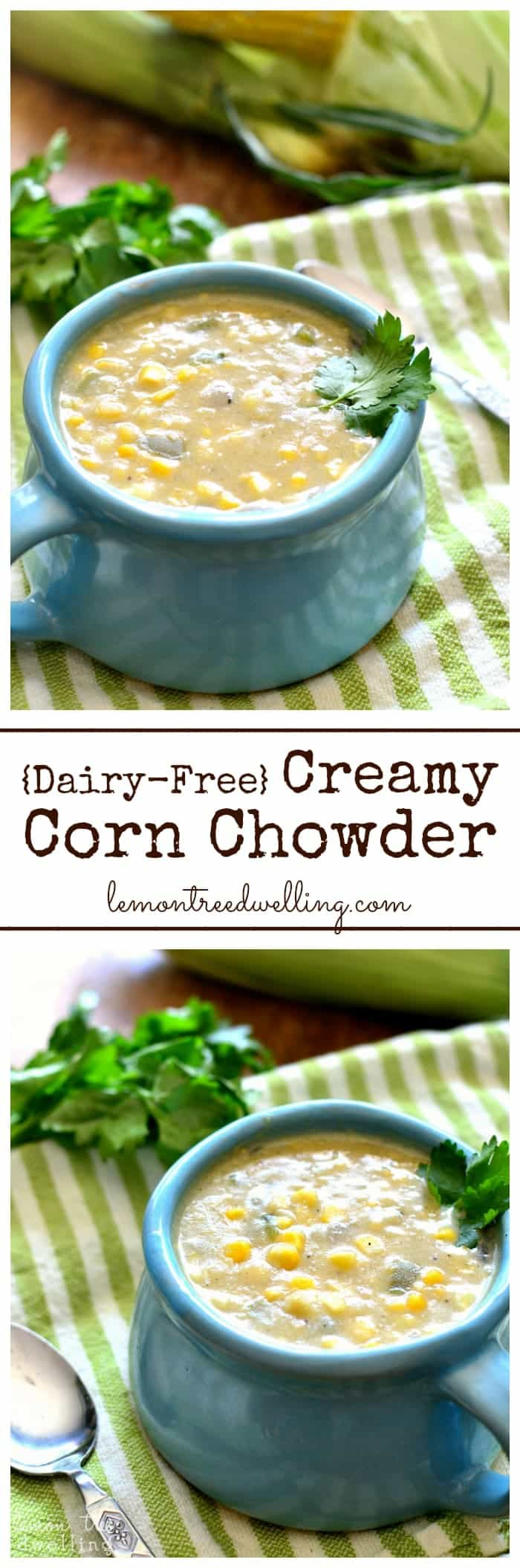 Creamy Corn Chowder is hearty, delicious, and packed with sweet corn ...