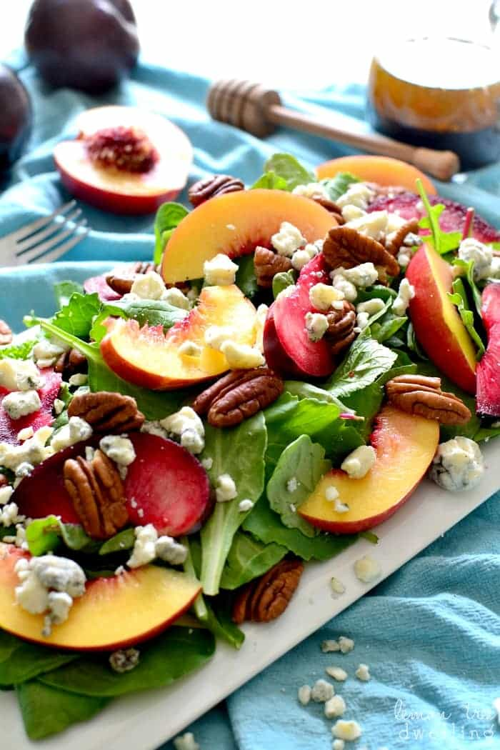 Stone Fruit Salad with Pecans & Blue Cheese | Lemon Tree ...