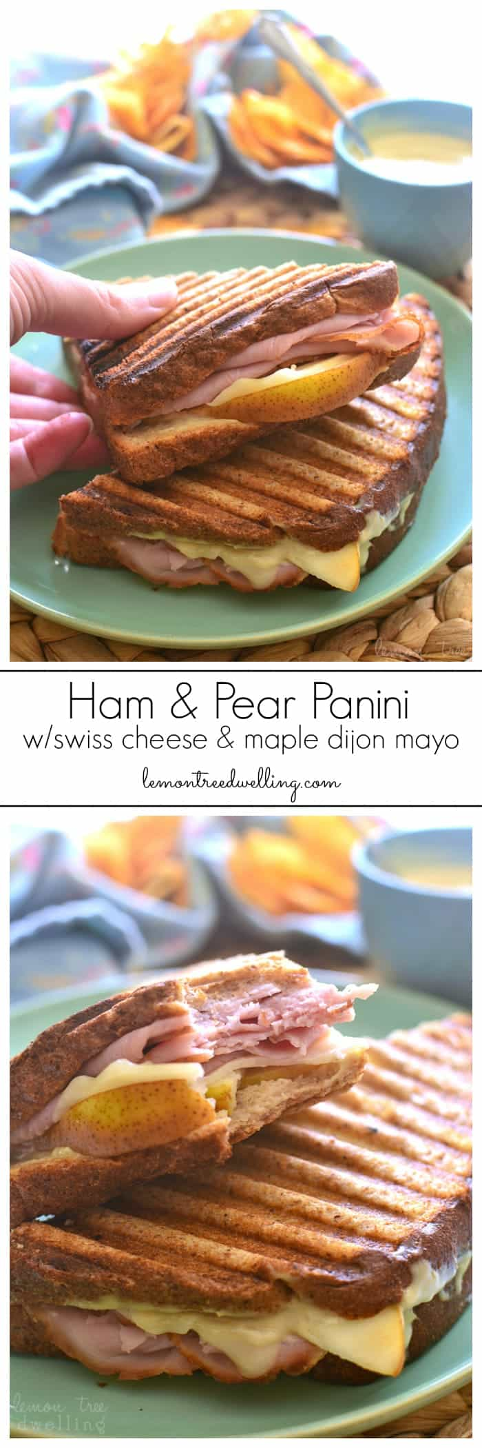 This Ham & Pear Panini is packed with ham, swiss, and fresh pears ...