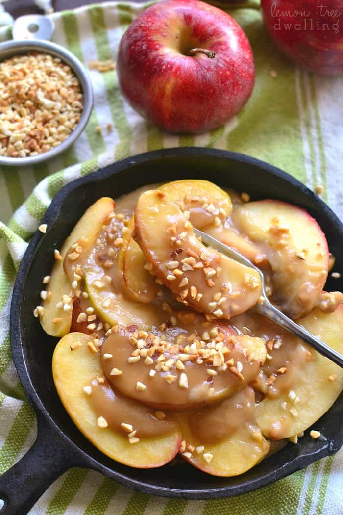 Skillet Caramel Apples - lightened up with Truvia® and ready in just 10 minutes!
