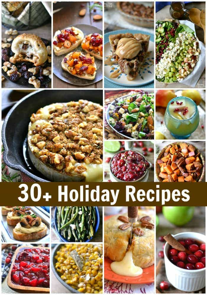 Holiday recipes for Thanksgiving, Christmas, and New Year's Eve! More than 30Lemon Tree Dwelling recipes that are perfect for the holidays!