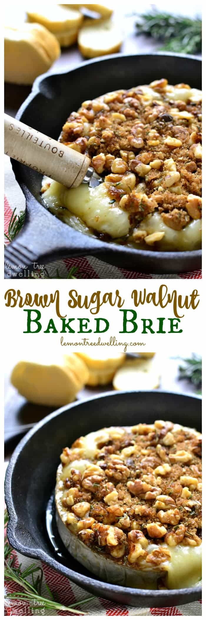 This Brown Sugar Walnut Baked Brie is the perfect blend of savory and ...