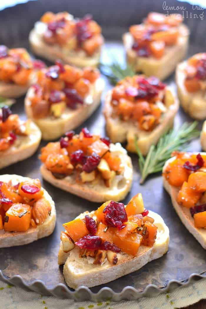 This Butternut Squash Crostini is deliciously savory-sweet and perfect for holiday entertaining!