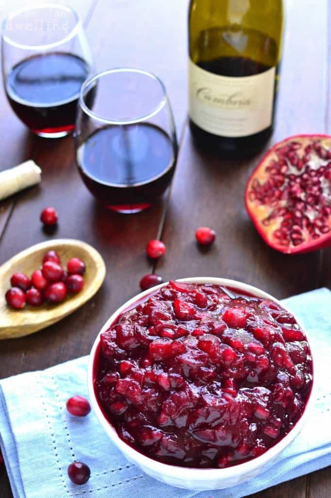 Pomegranate Apple Cranberry Sauce - Cambria Winery