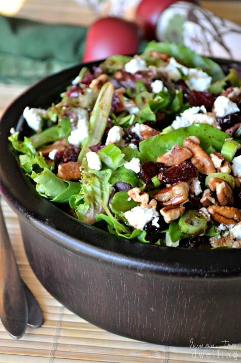 Cherry, Pecan & Goat Cheese Salad