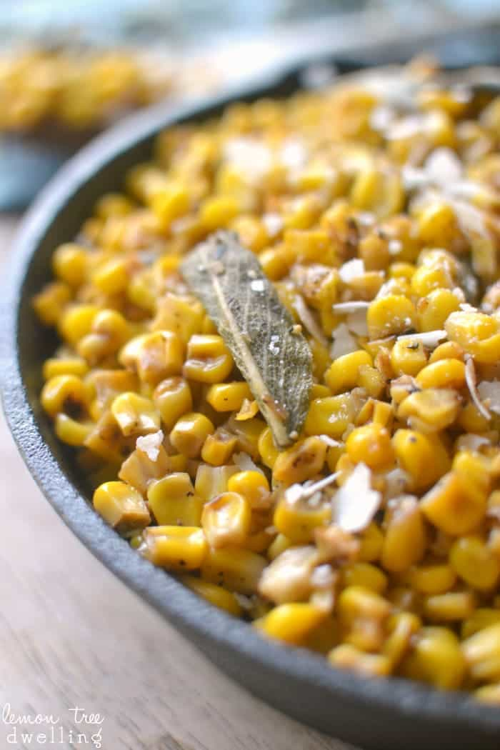 Skillet Corn with Brown Butter and Sage