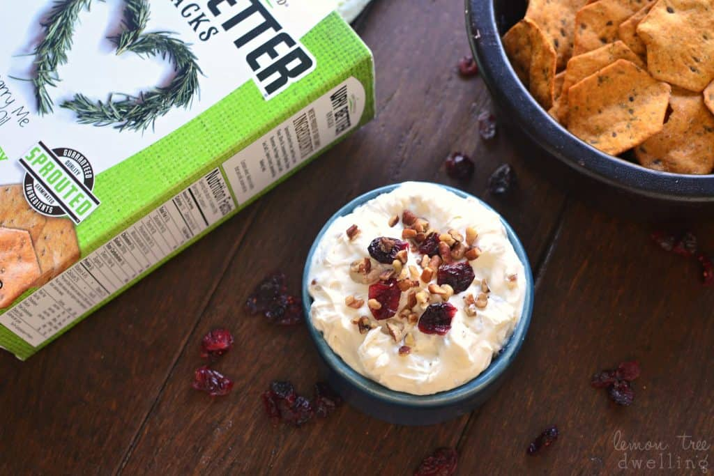 Maple Pecan Cranberry Dip combines all the best flavors of fall in a delicious dip that's perfect for the holidays! This easy dip recipe is so quick to make and sure to please everyone.