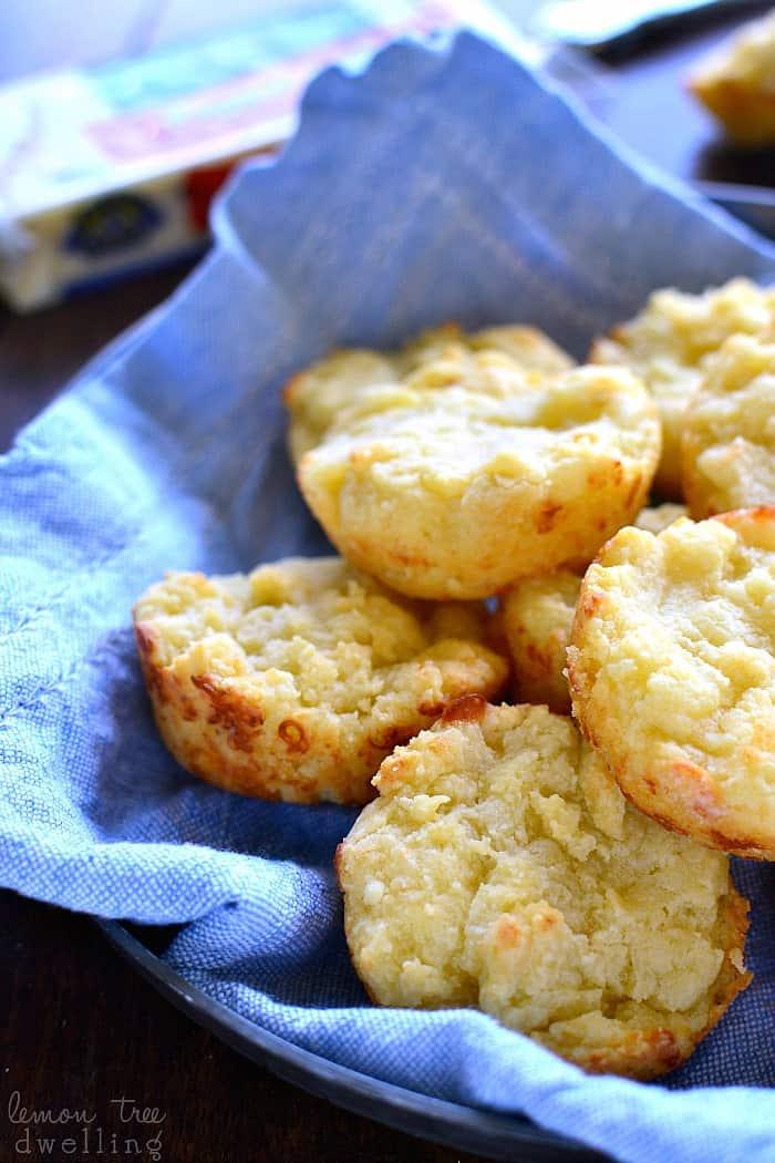 These Easy Cheesy Muffin Tin Biscuits are rich, buttery, and loaded with the delicious flavor of pepper jack cheese. They come together in minutes and make the perfect addition to your holiday table!