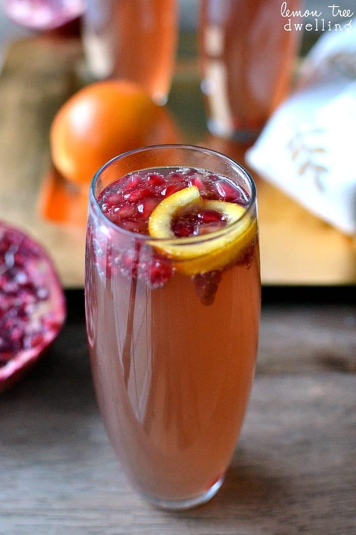 Pomegranate Orange Fizz