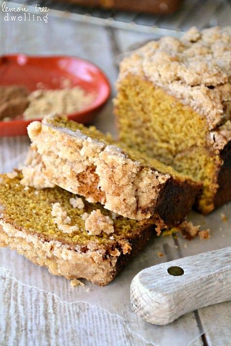 Pumpkin Ginger Streusel Bread