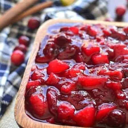 Spiced Cranberry-Pear Sauce 1