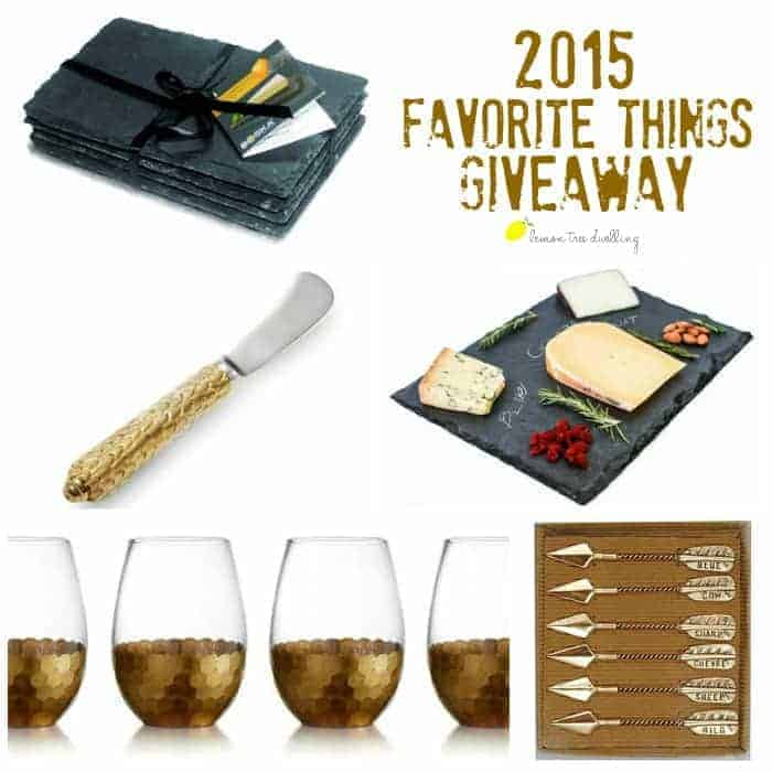 2015 Favorite Things Giveaway - all things wine & cheese! Perfect for holiday entertaining!