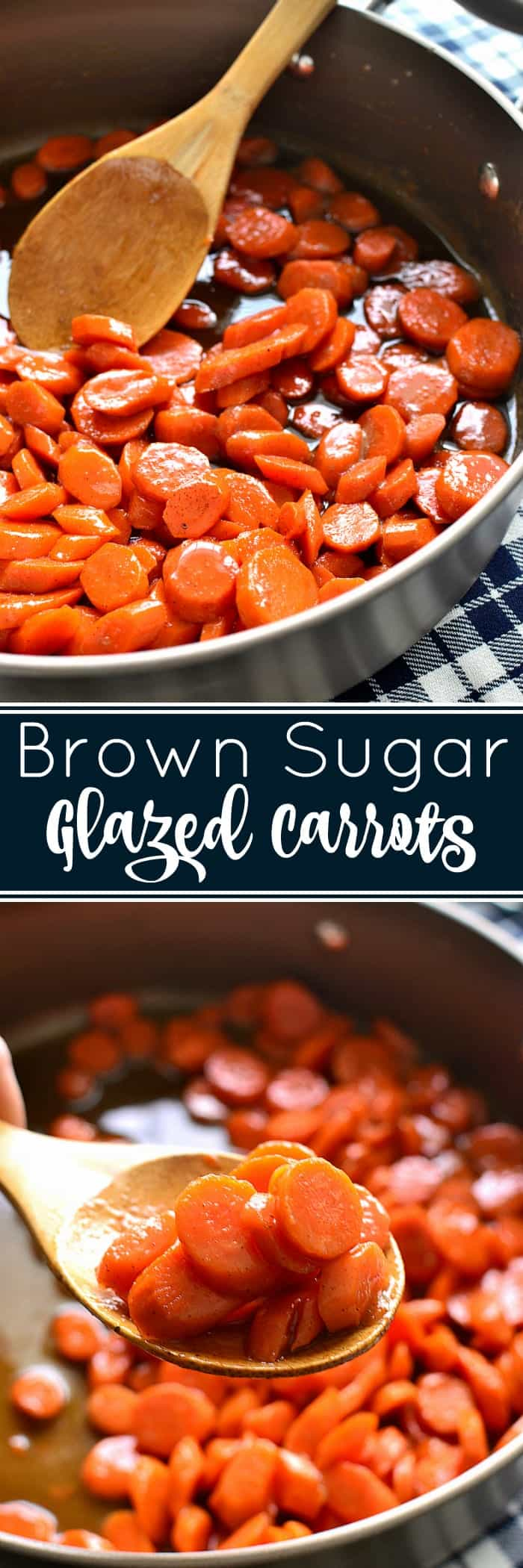 These Brown Sugar Glazed Carrots take carrots to a whole new level! Made with just 4 delicious ingredients, they come together quickly and make the perfect holiday side dish!