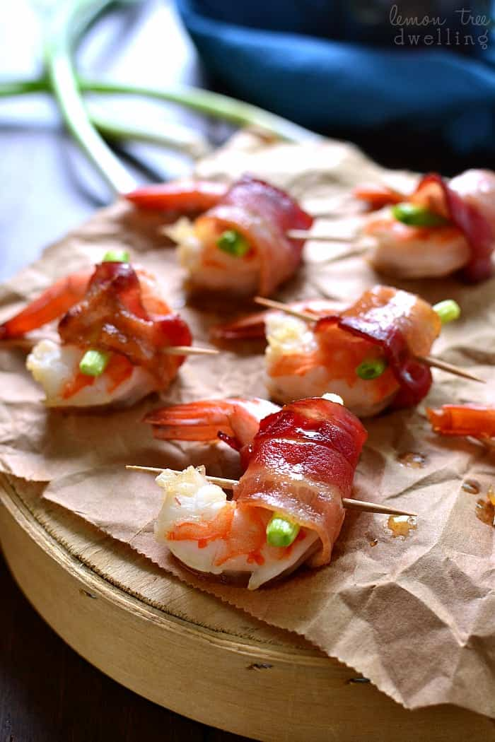 Maple Bacon Wrapped Shrimp is one of my favorite holiday appetizers! It's easy to make, packed with flavor, and sure to please a crowd!