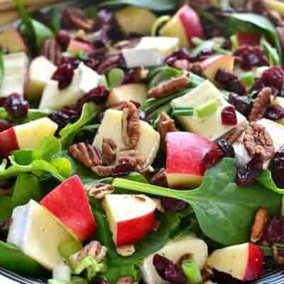 Apple Brie Salad combines the crispness of apples with the creaminess of Brie cheese in a delicious salad that's perfect anytime. This fresh and crisp salad will make an easy side dish or a meal all on its own.