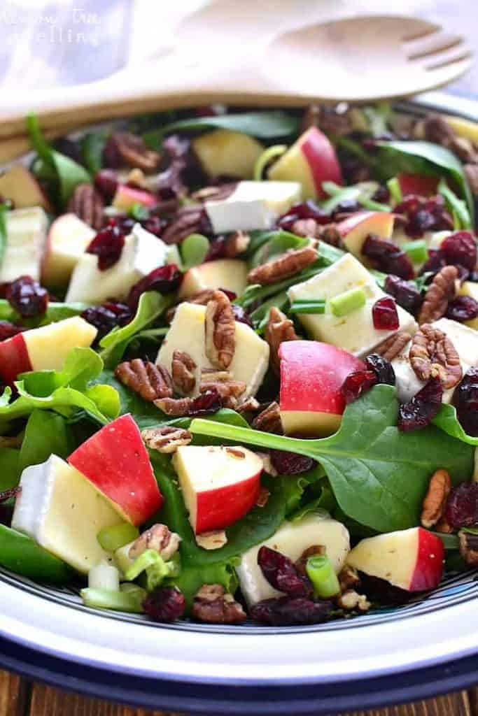 Close up of Apple Brie Salad