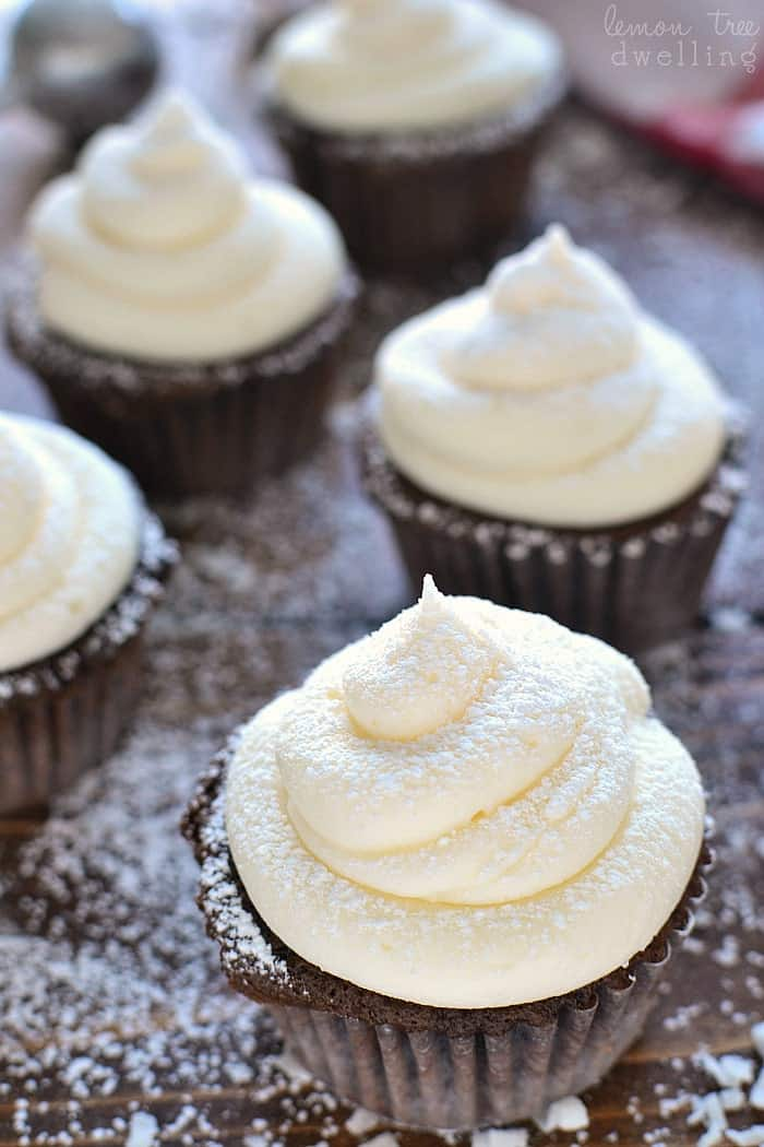 Chocolate Coconut Cupcakes are rich, chocolatey, and infused with delicious coconut flavor. Best of all, they come together in just 30 minutes and couldn't be easier to make!