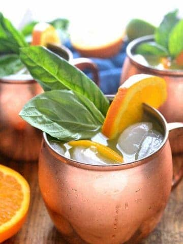 Orange Moscow Mules are a sweet and refreshing cocktail, combining orange juice, ginger, and a hint of lime. Make just one or, better yet, make a whole batch - these Moscow mules are ALWAYS a hit!