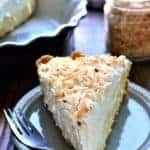 This Coconut Cream Pie is smooth and luscious and creamy filled with rich coconut and vanilla.