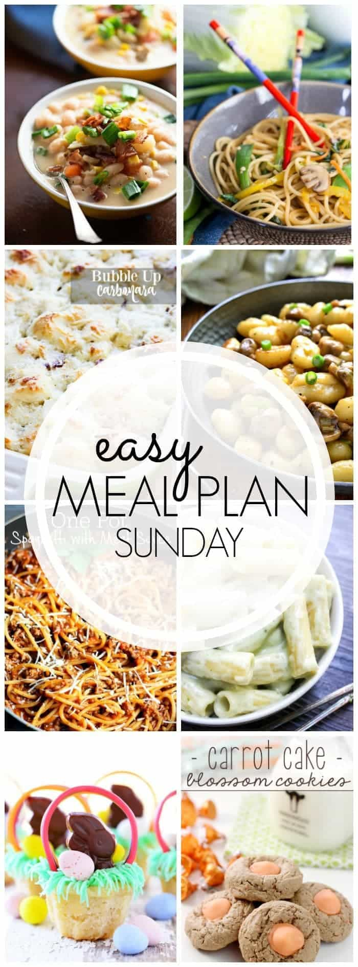 Everything you need to plan your meals for the week....all in one place! (Desserts included!)