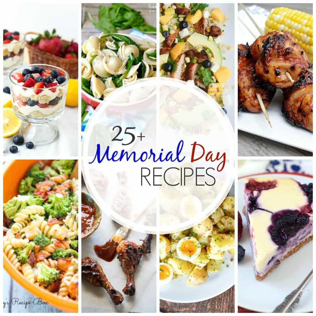 More than 25 delicious recipes to get you ready for Memorial Day! Everything from main dish to salads to desserts....these are recipes you can come back to all summer long!
